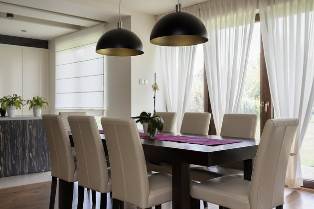 Urban apartment - interior of a dining room, table