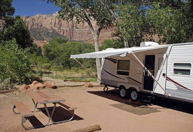 Camper in Zion National Park
