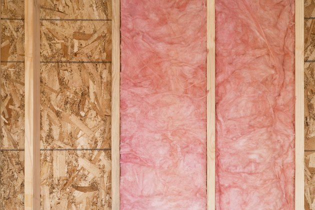 New Wall With Fiberglass Insulation