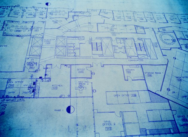Close-up of a Blueprint