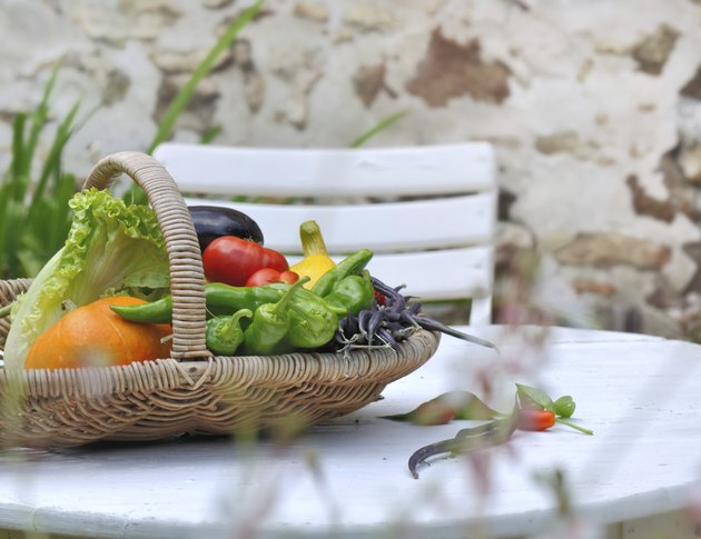 garden vegetables basket