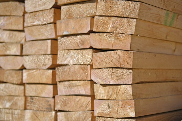 Lumber Close-up - Stock Image