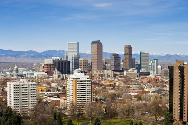 View of Denver Colorado Skyline