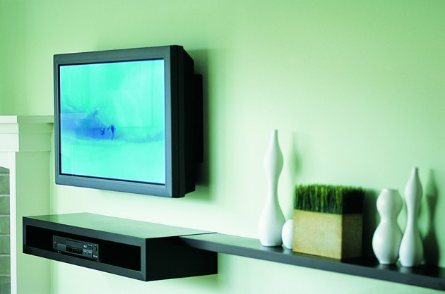 Flat Screen TV Mounted on Wall