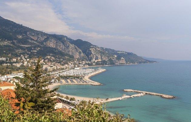 """View of Garavan - Menton, French Riviera"""