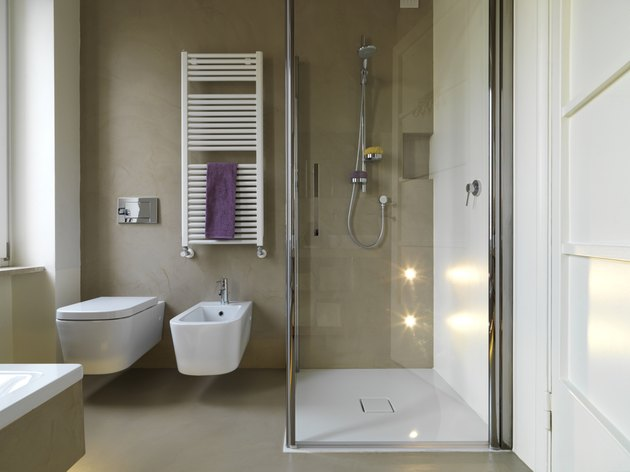 modern bahtroom with shower cubicle