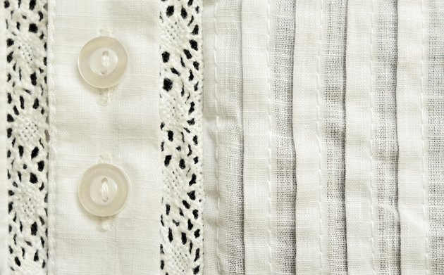 Element of batiste blouse