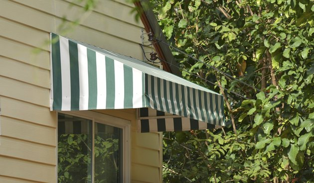 Colored awning
