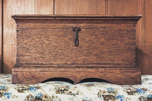 Old wood box vintage