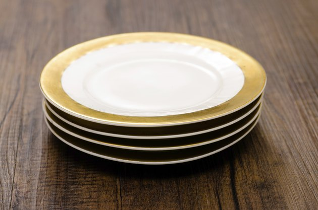 Little plate on a stack