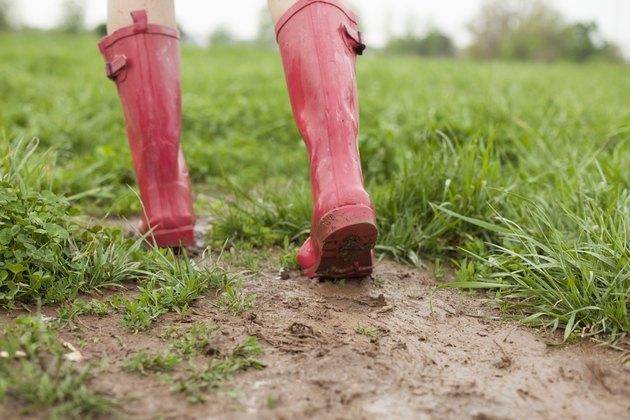Pink Rains Boots
