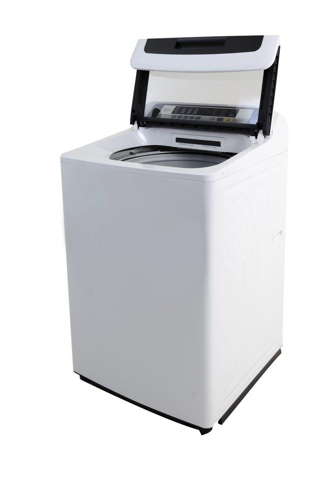 Isolated Automatic Washing Machine with WHite Background