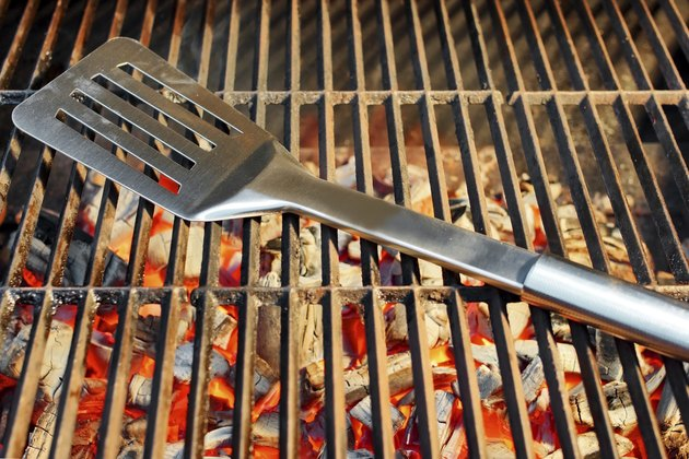 Glowing Charcoal and Barbeque Utensils XXXL