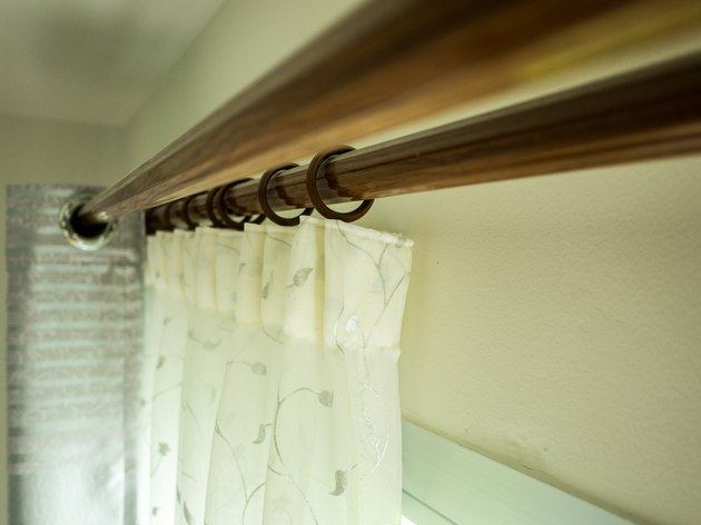 The curtains with ring-top rail