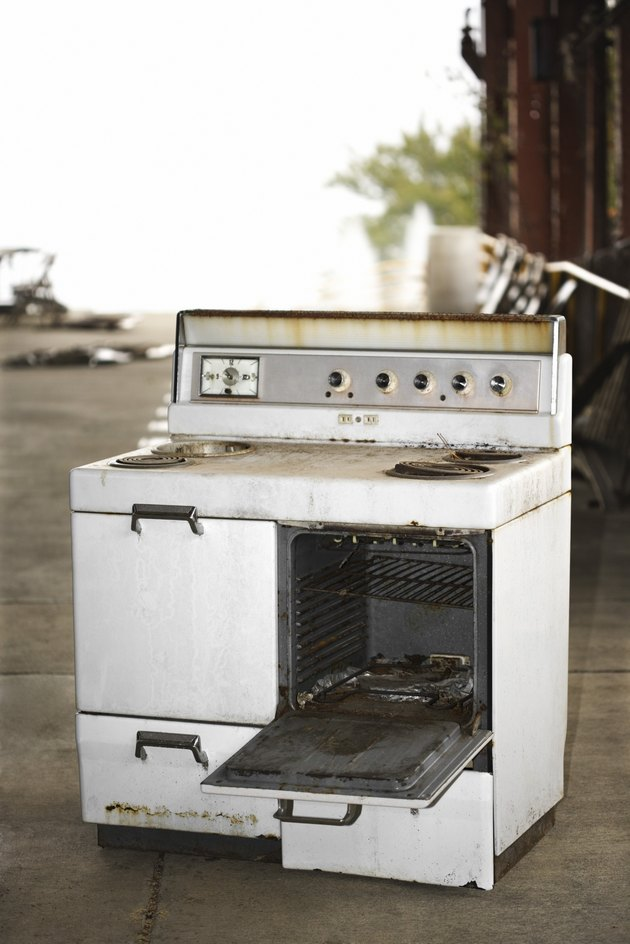 Discarded oven