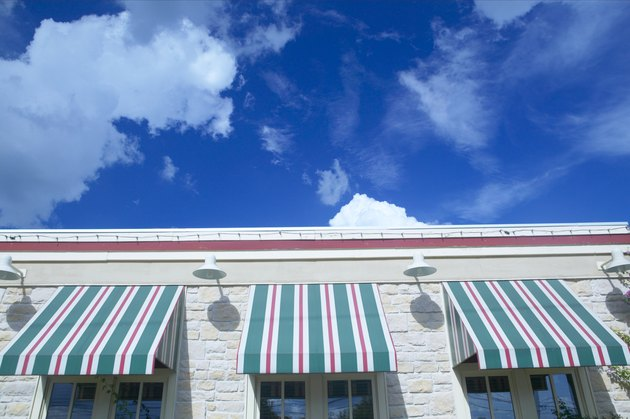 Awnings on building exterior