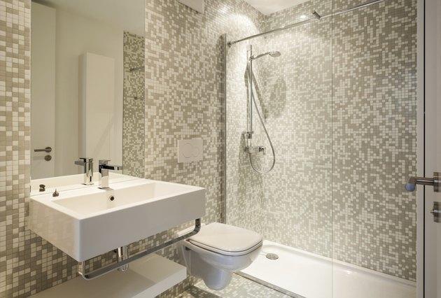 interior new house, bathroom