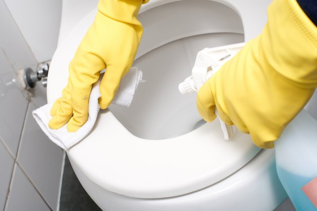 cleaning a WC