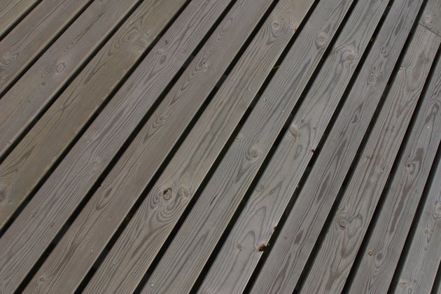 Wood deck planks