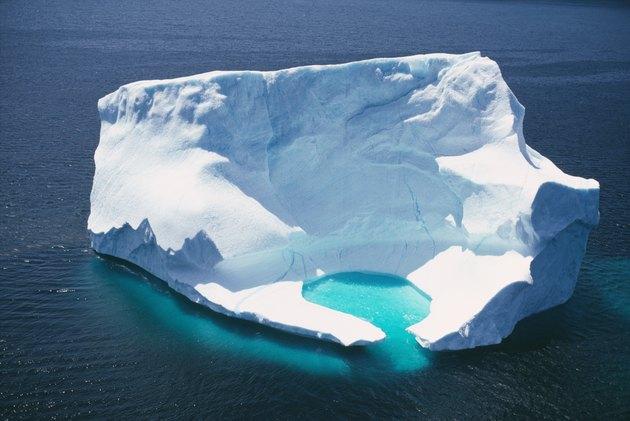 Iceberg in ocean, Newfoundland, Canada