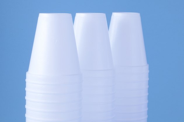 Stacks of insulated cups