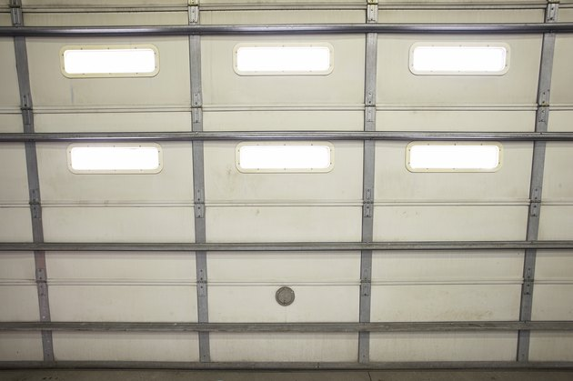 Interior of a garage door