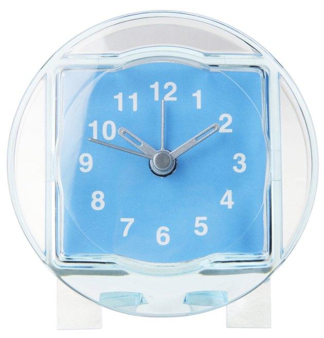 Clear blue acrylic clock