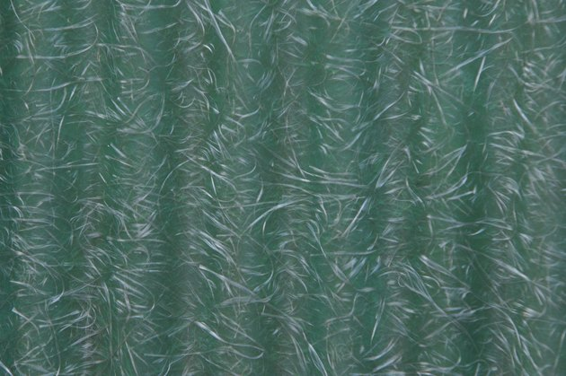 Texture and pattern of corrugated fiberglass