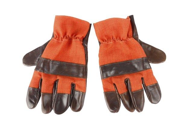 Hard work gloves isolated on white background