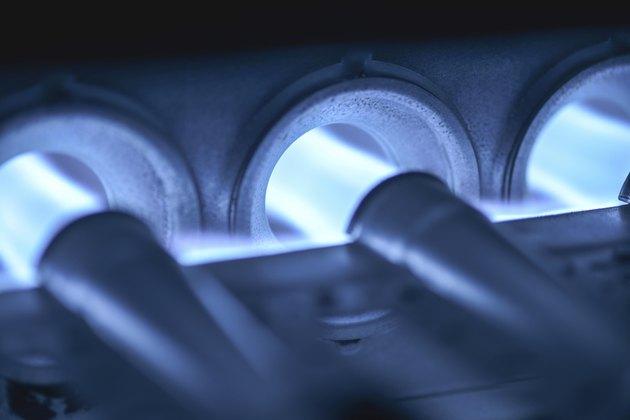 Home Furnace Burner Blower Ignited