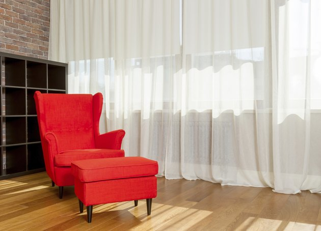 Red armchair - stok image