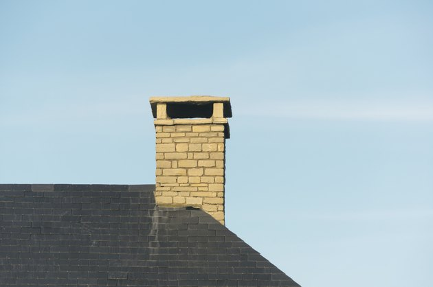 chimney on house roof