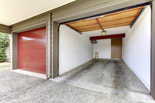 Open garage.