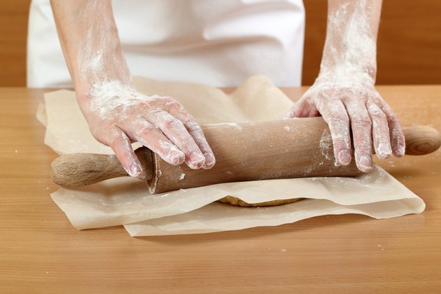Making Pastry Dough for Hungarian Cake. Series.
