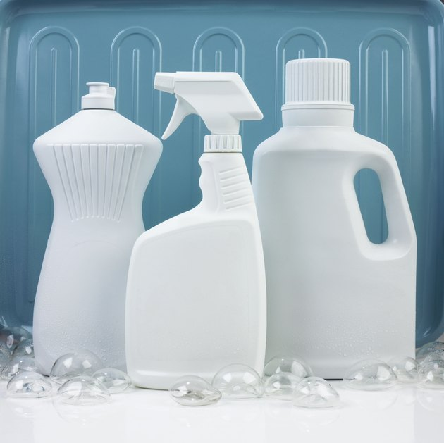 Assorted generic cleaning products