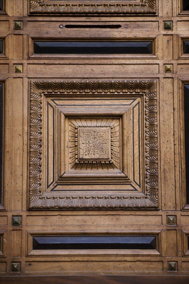 Ornate wood panel