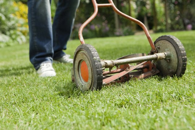 Old-fashioned lawn mower