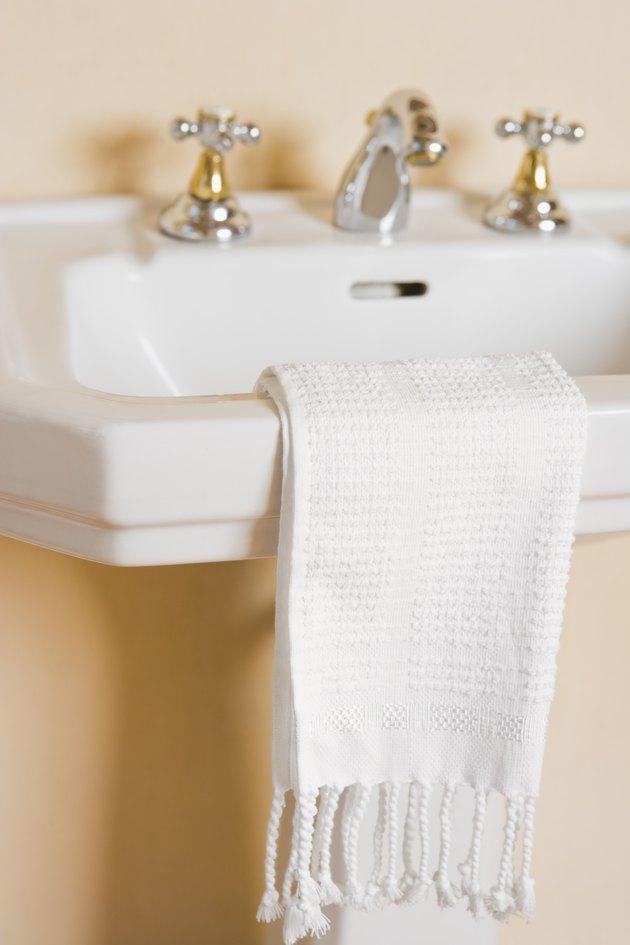 Towel on sink