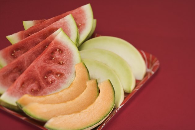 Honeydew with watermelon and cantaloupe