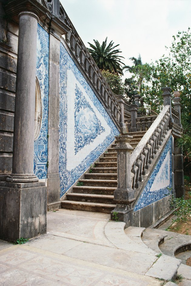 Ornate stairway, outdoors