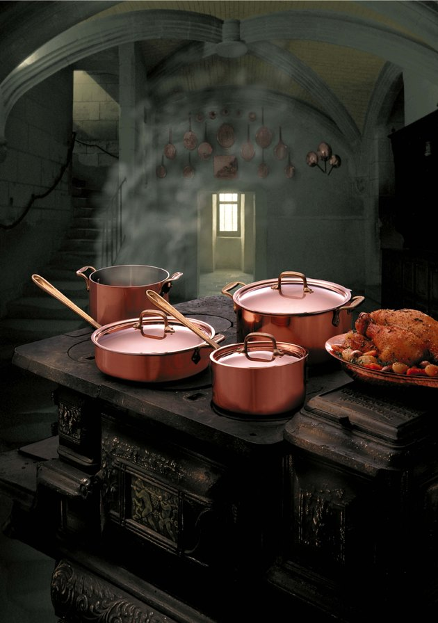 Copper Pots in Kitchen