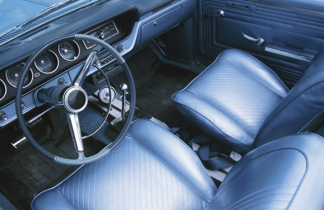 Interior of old car