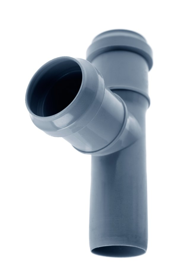 PVC plastic pipe for sewer.