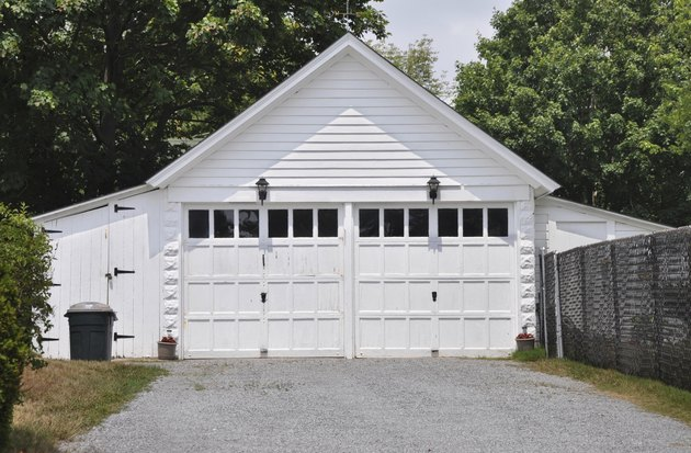 Two Car Garage A Frame Style Architecture