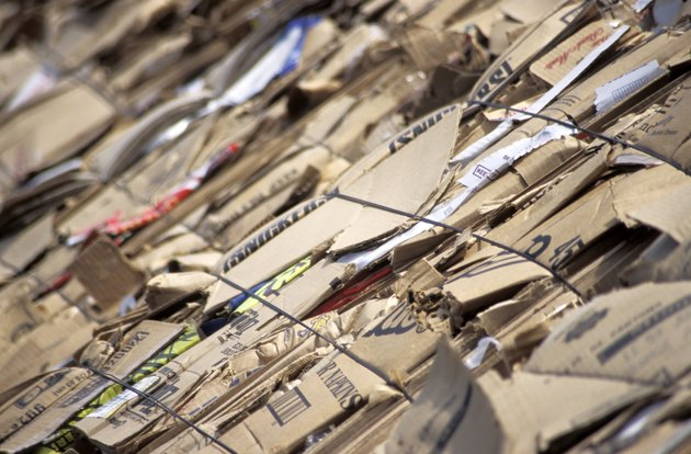 Stacks of Cardboard to be Recycled