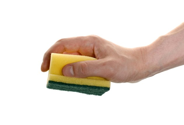 hand with a sponge