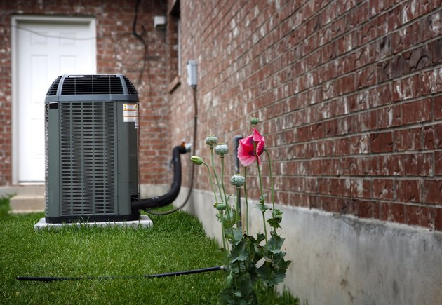 AC on house backyard