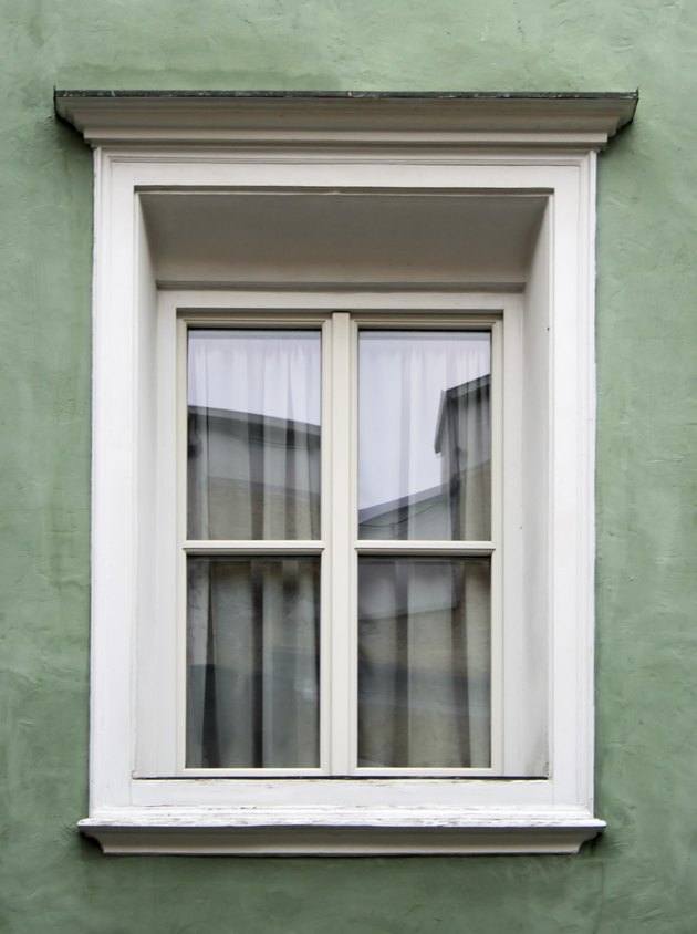 Typical alpine window frame decorated