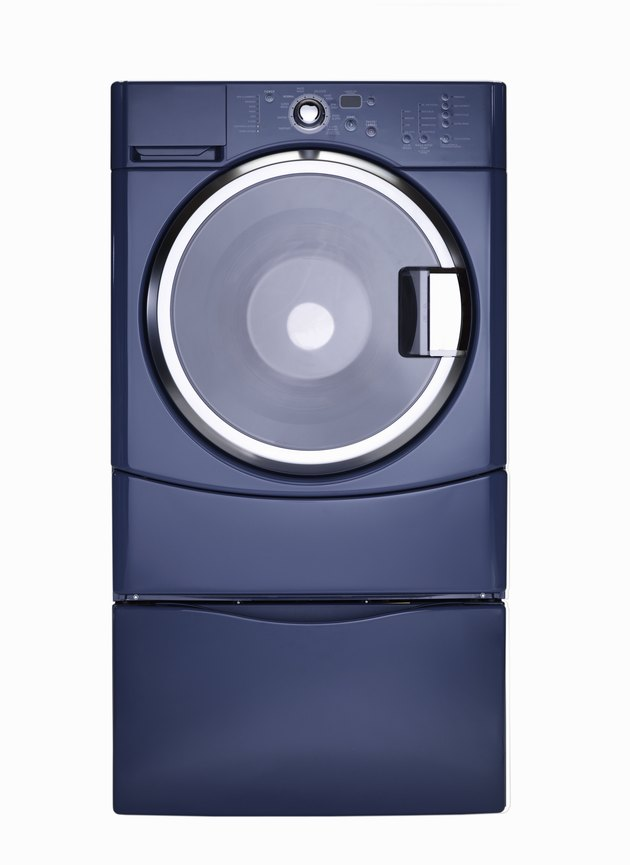 Steam technology washer, blue finish