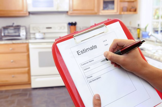 Contractor Writing Estimate